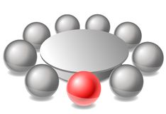 Round table. A symbolic illustration of a round table Royalty Free Stock Photography