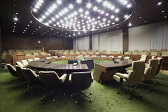 Round table in auditorium. Royalty Free Stock Photography