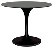 Round Table Black Stock Photography