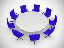 Round table and chairs isolated on white background Royalty Free Stock Images