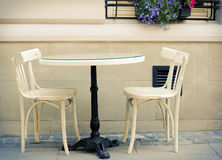 Round table and  chairs Stock Image
