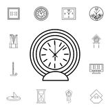 Round Table clock line icon. Clock Icon. Premium quality graphic design. Signs, symbols collection, simple icon for websites, web. Design, mobile app on white Royalty Free Stock Photo