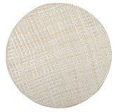 Round Table-cloth. Wicker table-cloth isolated over white background Royalty Free Stock Image