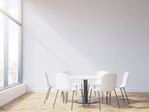 Round table in conference room Royalty Free Stock Photography