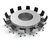 Round table, diplomacy, conference, meeting Royalty Free Stock Image