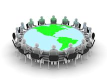 Round table discussion Royalty Free Stock Photos