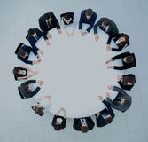 Round table discussion at Business convention and Presentation. Royalty Free Stock Photos