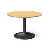 Round table. Illustration on white Royalty Free Stock Image