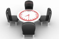 Round table meeting deadline Royalty Free Stock Photography