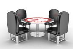 Round table meeting deadline Royalty Free Stock Image