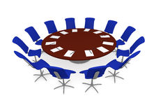 Round table meeting Royalty Free Stock Photo