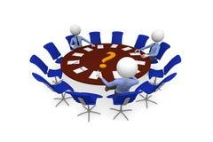 Round table meeting Stock Photo