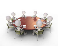 Round table talks Stock Photography