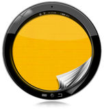 Round Tablet Computer Isolated on White Royalty Free Stock Images