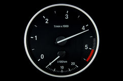 Round tachometer Stock Images