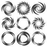 Round tattoos in swirl form Royalty Free Stock Image