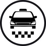 Round taxi sign Stock Images