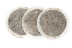 Round tea bags Stock Image