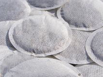 Round teabags Stock Photos