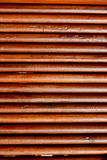 Round teak wood wall Royalty Free Stock Image