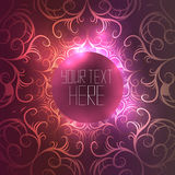 Round template with abstract vintage background Stock Images