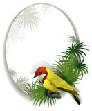 A round template with a bird Stock Images