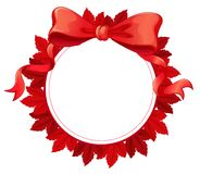 A round template with a red ribbon Stock Images