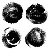 Round textured prints with paint on paper Royalty Free Stock Photos