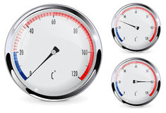 Round thermometer Royalty Free Stock Photography