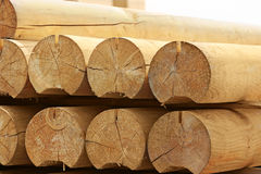 Round timber Royalty Free Stock Photography