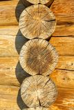 Round timber Royalty Free Stock Image