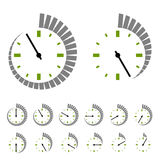 Round timer symbols. Illustration for the web Royalty Free Stock Photo