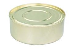 Round tin of meat. Stock Photo