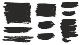 Round Tip Brush Strokes Background Mix of Heavy Paint Fill & Light Paint Fill Set 02 Stock Images