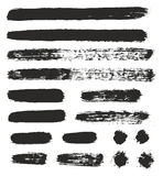 Round Tip Brush Strokes Mix of Heavy Paint Fill & Light Paint Fill Set 02 Royalty Free Stock Photography