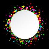 Round tło z kroplami Fotografia Royalty Free