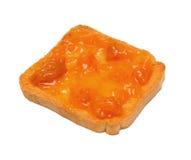 Round toast with jam Stock Image
