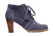 Round toe suede boot Stock Photos