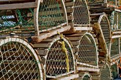 Round Topped Lobster Traps Stock Images