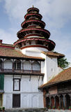 Round tower architecture in Nasal Chowk Courtyard of Hanuman Dhoka Durbar Stock Photos