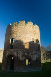 Round tower of the castle. Ludlow castle Stock Photo