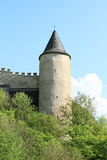 Round tower on Castle Karlstejn Royalty Free Stock Image