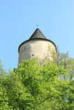 Round tower on Castle Karlstejn Stock Images
