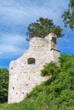 Round tower of a castle ruin Royalty Free Stock Photos