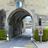 Round tower in the city of Lucerne Royalty Free Stock Photography