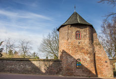 Round tower in the city wall of Xanten Royalty Free Stock Photography