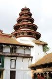 Round tower at the corner in Nasal Chowk Courtyard of Hanuman Dhoka Durbar Square Royalty Free Stock Photo