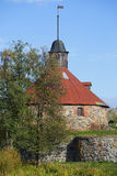 The round tower Lars Torstenson. The Korela Fortress, Priozersk Royalty Free Stock Photo