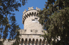 Round tower in the Palace of the Grand Master, Rhodes Royalty Free Stock Photos