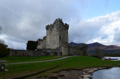 Round Tower at Ross Castle in Killarney National Park Royalty Free Stock Images